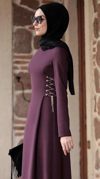 Dress Rana Zenn Plum chain detail Size 44
