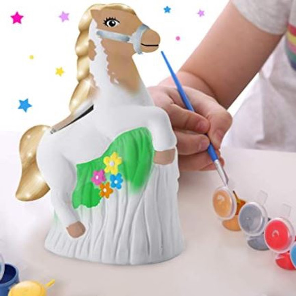 Toy Money Bank Original Stationery Paint your own Horse