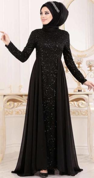 Dress Selvinur Plus size Black lace chiffon