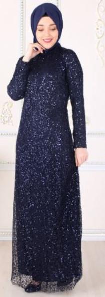 Dress Selvinur Navy lace