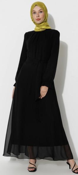 Dress Ziwoman Black with waistband