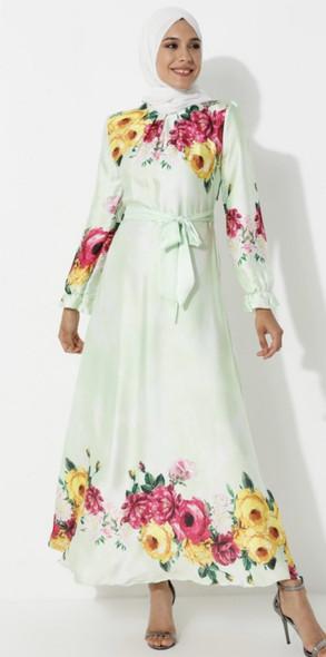 Dress Ziwoman Floral Mint