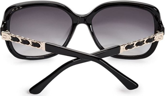 Sunglass Women Guess GF6060 Shiny Black