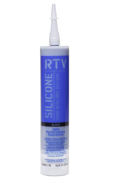 SILICONE WHITE LIGHTNING RTV 100% BLACK 10 OZ WL099111B