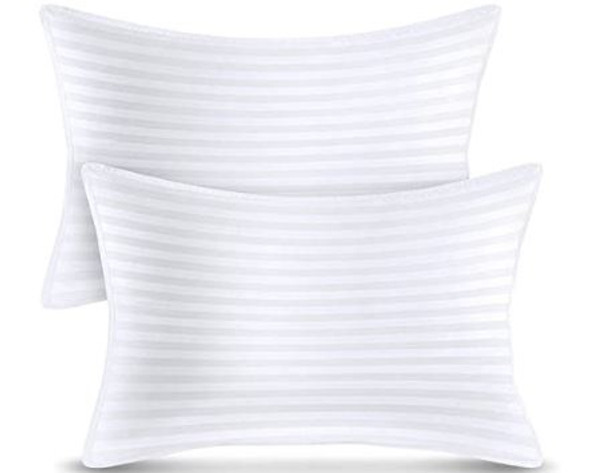 Pillow Utopia Premium Plush 2 Pack Cotton Queen Size 20 x 28 Inches