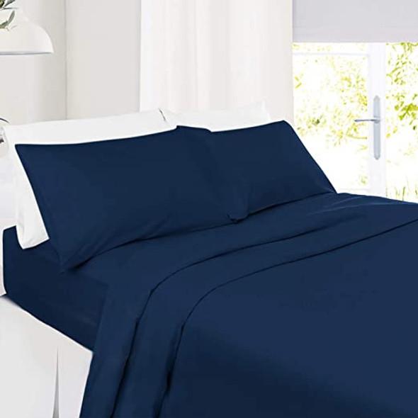 Bedsheet Set Queen Anna Bella 1800 Series 4-Piece