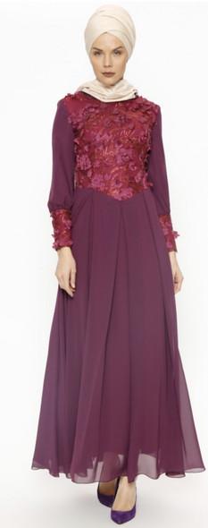 Dress Butik Nese Purple
