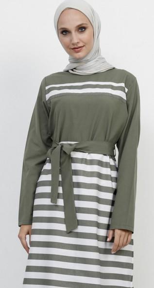 Dress Refka Stripe green, white