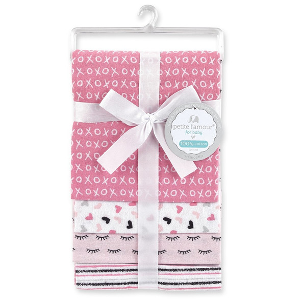 BABY RECEIVING BLANKETS PETITE L'AMOUR CM41418 4PCS SET