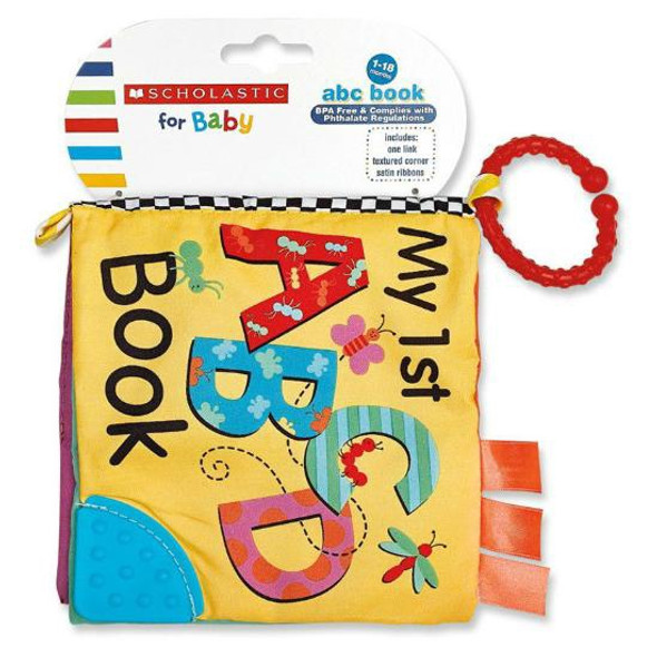 BABY SCHOLASTIC SC77445 ABC BOOK 1-18 MONTHS BPA FREE