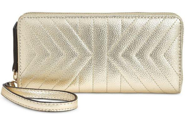 Purse Wallet Wristlet INC International Concept Metallic