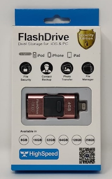 COMPUTER FLASH DRIVE 4GB USB 3.0 LIGHTNING