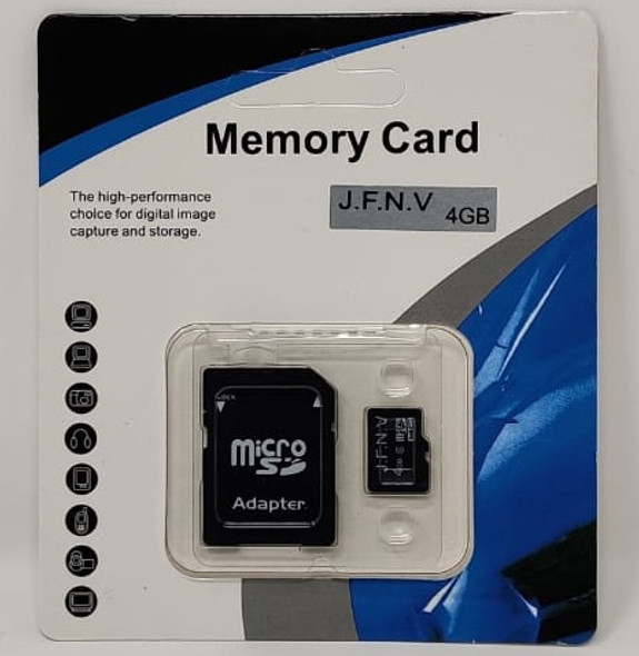 COMPUTER SD MICRO CARD 4GB WITH 1ADPTOR J.F.N.V