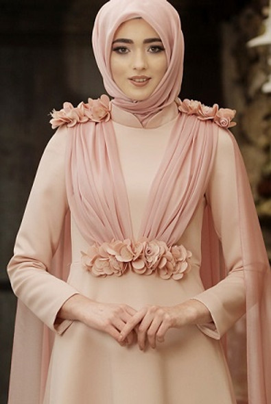 Dress Evening Nurbanu Blush Pink size 40