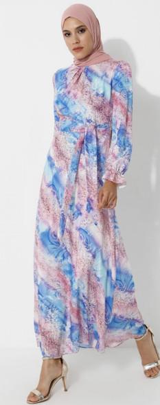 Dress Ziwoman Blue & lilac