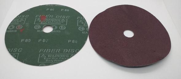 "SANDING DISC 7"" #80 FIBER DISC"