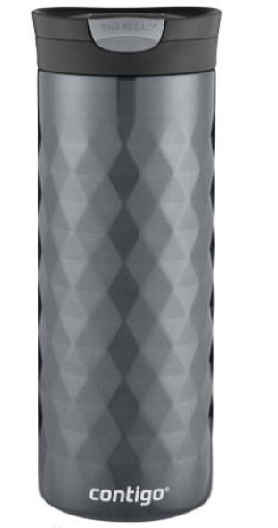 Travel Mug Contigo Snapseal Kenton Vacuum-Insulated Stainless Steel 20 oz., Gunmetal