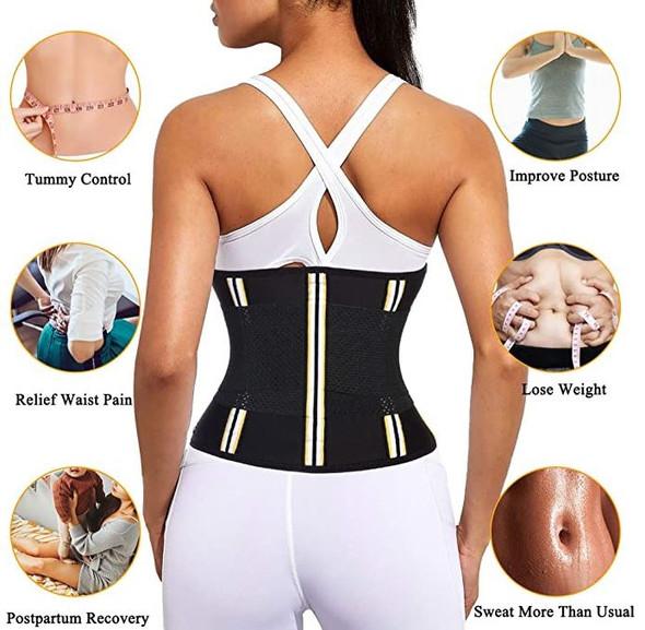 Waist Trainer Women Racelo workout body shaper Black