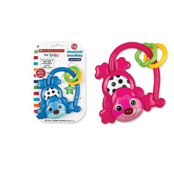 BABY MUSICAL MONKEY SCHOLASTIC SC7004 1-18MONTHS