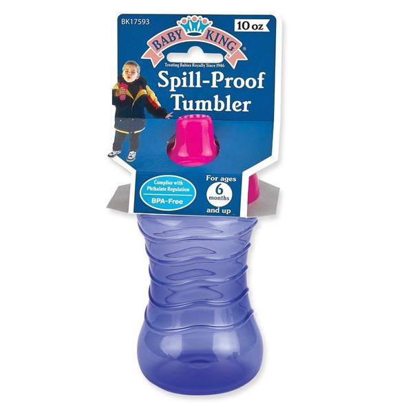 BABY SPILL-PROOF TUMBLER BABYKING BK17593 10oz 6MONTHS + BPA FREE