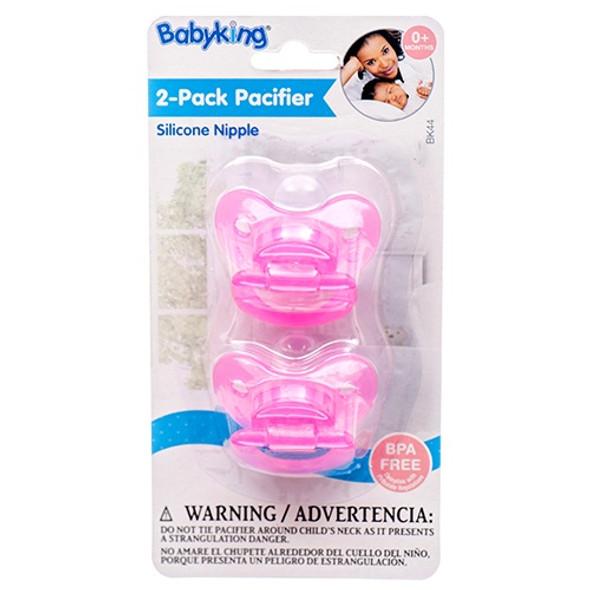 BABY PACIFIER BABYKING BK44 0+MONTHS 2PCS PACK BPA FREE