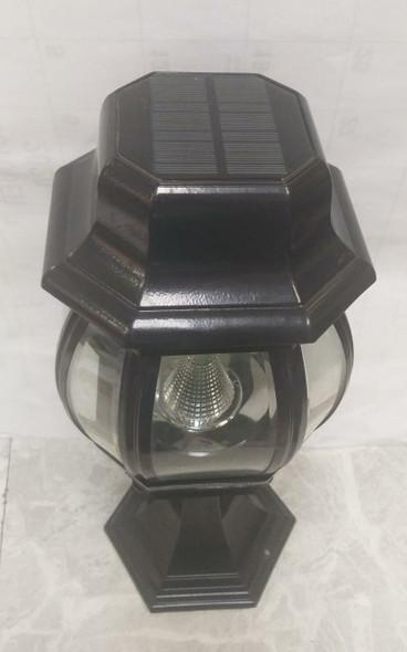 LIGHT LED POST SOLAR BLACK FLAT TOP FIXTURE B