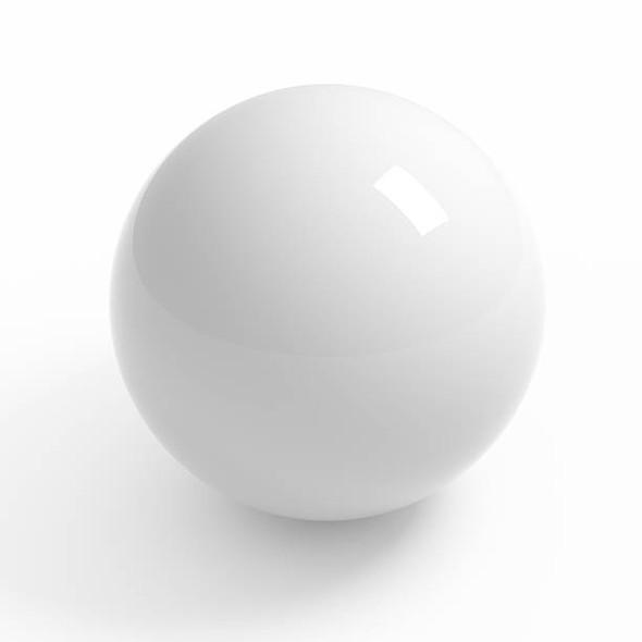 POOL BALL WHITE OVERSIZE