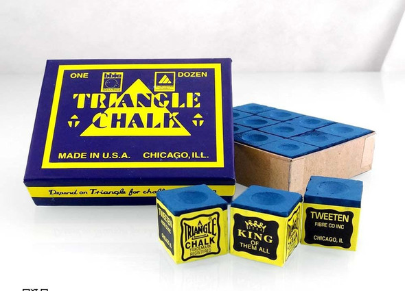 POOL CHALK TRIANGLE KING OF THEM ALL SOLD EACH