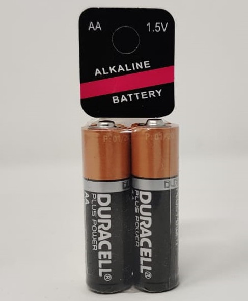 BATTERY DURACELL SIZE AA  2 PCS PACK