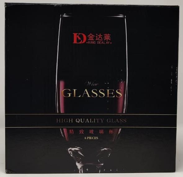 GLASS WINE SET 6PCS CLEAR KING DEALAY GLASS-21