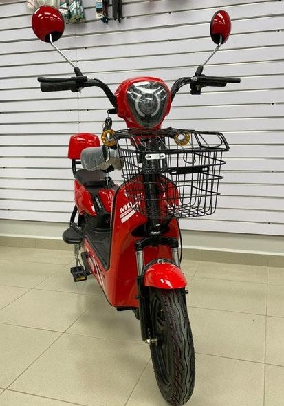 ELECTRIC BIKE MD TIME START GE-RED WITH MIRRORS, TURN SIGNALS, ALARM AND CHARGER