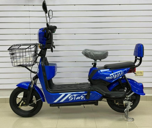 ELECTRIC BIKE MD TIME START GE-BLUE WITH MIRRORS, TURN SIGNALS, ALARM AND CHARGER