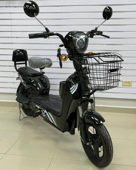 ELECTRIC BIKE MD TIME START GE-BLACK WITH MIRRORS, TURN SIGNALS, ALARM AND CHARGER