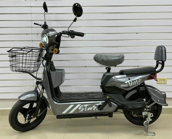 ELECTRIC BIKE MD TIME START GE-GRAY WITH MIRRORS, TURN SIGNALS, ALARM AND CHARGER