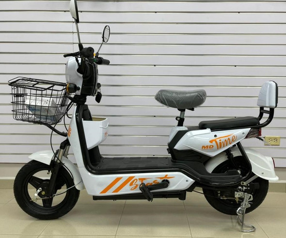 ELECTRIC BIKE MD TIME START GE-WHITE WITH MIRRORS, TURN SIGNALS, ALARM AND CHARGER