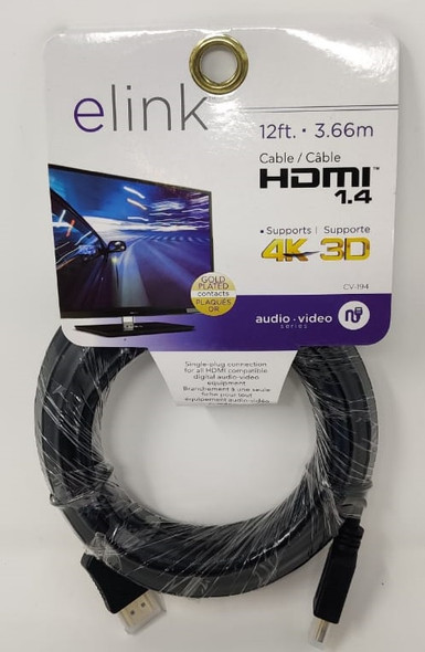 LEAD HDMI - HDMI 12' 3.66M 1.4 ELINK CV-194 4K 3D