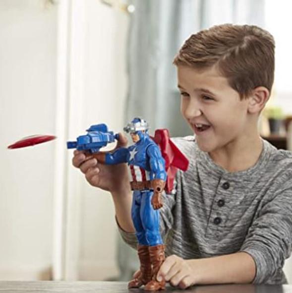 """Toy Avengers Marvel Blast Gear Captain America 12"""""""