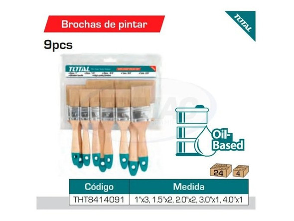 PAINT BRUSH 9PCS SET TOTAL THT8414091