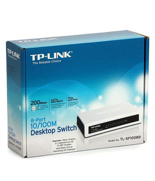 COMPUTER HUB 8 PORT TL-SF1008D TP LINK SWITCH