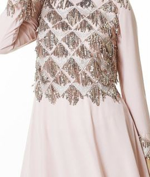 Dress Nurla Blush Pink Sequin & chiffon