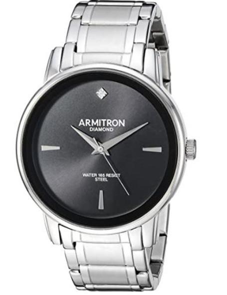 Watch Armitron Men's Diamond-Accented Bracelet 5263BK