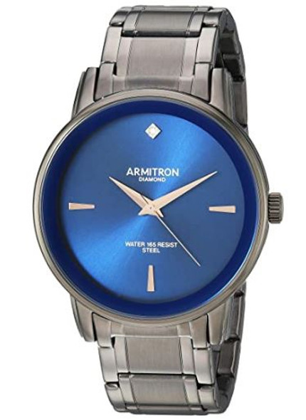 Watch Armitron Men's Diamond-Accented Bracelet Blue face