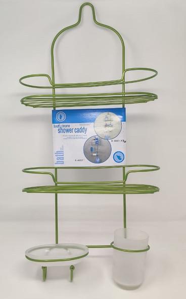 SHOWER CADDY 3 TEIR LUXURY GREEN E-0057-1