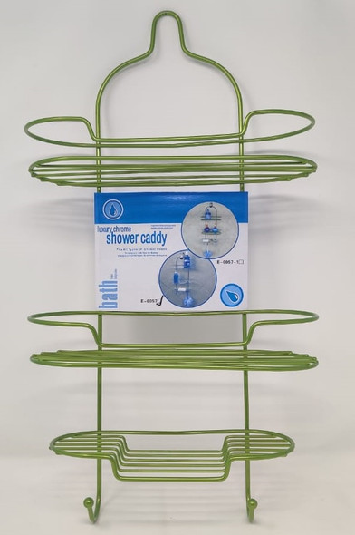 SHOWER CADDY 3 TEIR LUXURY GREEN E-0057