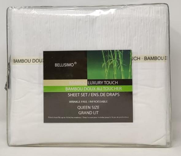 Bedsheet Set Queen Bellisimo Bamboo Luxury Touch