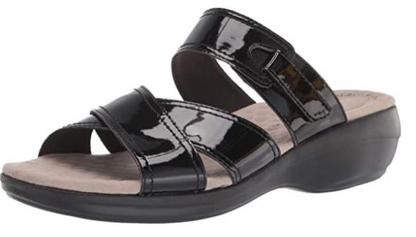Footwear Clarks Women's Alexis Art Flat Sandal Black