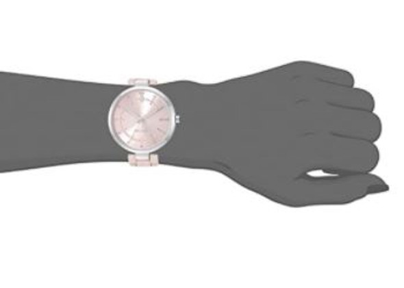 Watch Nine West Women's Crystal Accented Rubberized Bracelet