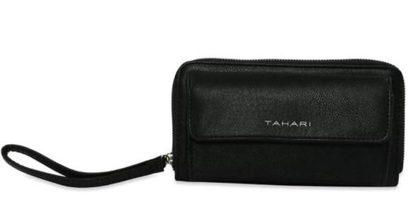 Bag Wristlet TAHARI Leather Organizer Clutch