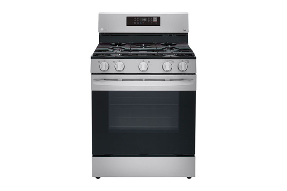 "STOVE 5 BURNER LG 30"" LRGL5823S WITH AIR FRYER"