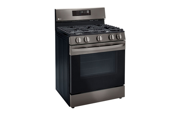 """STOVE 5 BURNER LG 30"""" LRGL5823D WITH AIR FRYER SMART WIFI FAN CONVECTION EASY CLEAN WITH PLATE-GRIDDLE"""